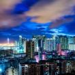 Urban city in Hong Kong at night — Stock Photo