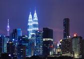 Capital city of Malaysia, Kuala Lumpur at night — Stock Photo