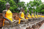 Ancient Buddha statue in temple — Foto Stock