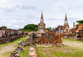 Historic architecture in Ayutthaya, Thailand — Foto de Stock