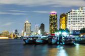 Bangkok skyline at night — Stock Photo