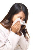 Asian woman nose allergic — Stock Photo