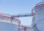 Oil storage tank — Foto Stock