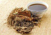 Traditional chinese herbal tea — Stock Photo