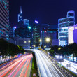 Traffic trail in Hong Kong city at night — Stock Photo