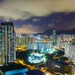 Hong Kong cityscape at night — Stock Photo