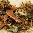 Dried chinese herb medicine — Stock Photo