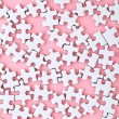 White puzzle on pink background — Stock Photo