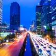 Bangkok with traffic jam — Stock Photo #35131631