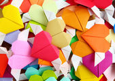 Origami colorful heart — Stock Photo