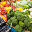 Foto Stock: Vegetable in market stall