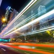 Traffic car lights in Hong Kong night — Stock Photo