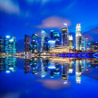 Urban cityscape in Singapore at night — Foto Stock