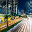 Hong Kong city busy traffic at night — Stock Photo