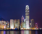 Hong kong city skyline at night — Stock Photo