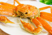Steamed Alaska King Crab — Stock Photo