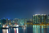 City in Hong Kong at night — Stock Photo