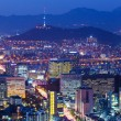 Seoul skyline at night — Stock Photo