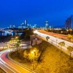 Seoul city skyline at night — Stock Photo