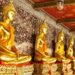 Golden buddha in temple — Foto Stock