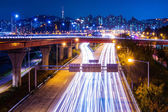 Highway with traffic light in Seoul — Stock Photo