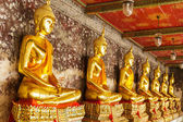 Golden buddha in temple — 图库照片