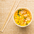 Instant noodles and chopstick — Stock Photo