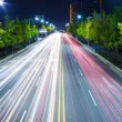 Highway at night — Stock Photo