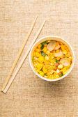 Instant noodles and chopstick — Stock fotografie