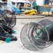Net traps for seafood — Stock Photo