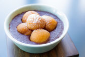 Red bean soup with dumpling — Stockfoto