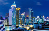 Bangkok skyline at night — Stock Photo