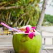Coconut drink in the resort — Stock Photo