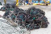 Empty seafood net traps — Stock Photo