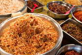 Korean appetiser in food market — Foto Stock