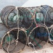 Traps for capture fisheries and seafood — Stock Photo