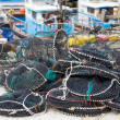 Empty traps for capture fisheries and seafood — Stock Photo