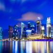 Urban cityscape in Singapore at night — Stock Photo