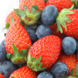 Stock Photo: Strawberries and Blueberries mix