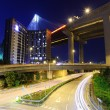 Traffic trail in Hong Kong at night — Stock Photo #35889533