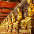 Golden buddha in temple — Stock Photo