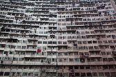 Overcrowded residential building in Hong Kong — Stock Photo