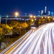 Busy traffic in Seoul city at night — Stock Photo