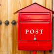 Red mailbox — Stock Photo #36147705