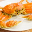 Steamed Alaska King Crab — Stockfoto