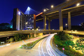 Traffic trail in Hong Kong at night — Stock Photo