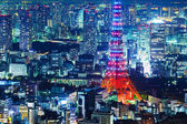 Tokyo city skyline at night — Stock Photo