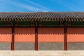 Exterior of traditional korean architecture — Foto Stock
