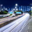 Stock Photo: Busy traffic at night