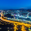 Seoul cityscape at night — Stock Photo